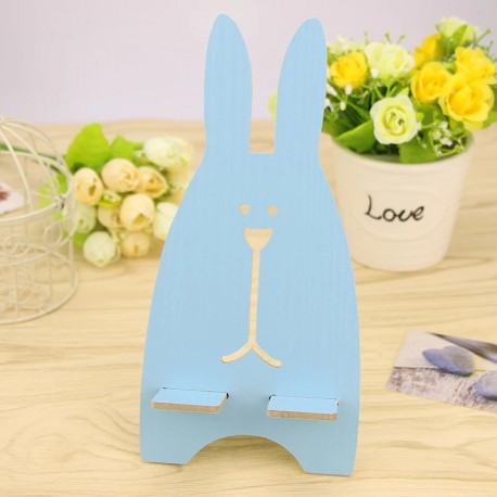 Rabbit Wood Stand Phone Holder