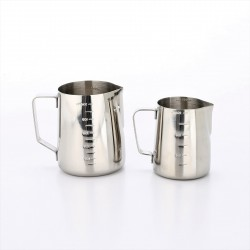Coffee Milk Frothing Pitcher Stainless Steel (350ML, Silver)