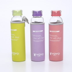 YoyoRabbit Glass Water Bottle